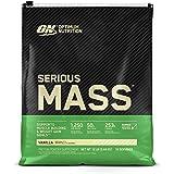 Optimum Nutrition Serious Mass Weight Gainer Protein Powder Vitamin C Zinc and Vitamin D for Immune Support Vanilla 12 Pound