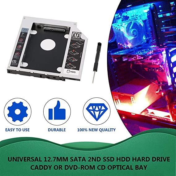 Kinshops 1208-SS Disco Duro Caddy Serial ATA Disco Duro HDD SSD ...
