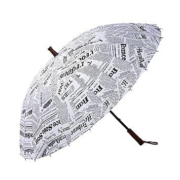 YF Outdoor Creativo automático Abierto Golf Extra Grande Paraguas de Mango Largo con 24 Costillas Reforzado