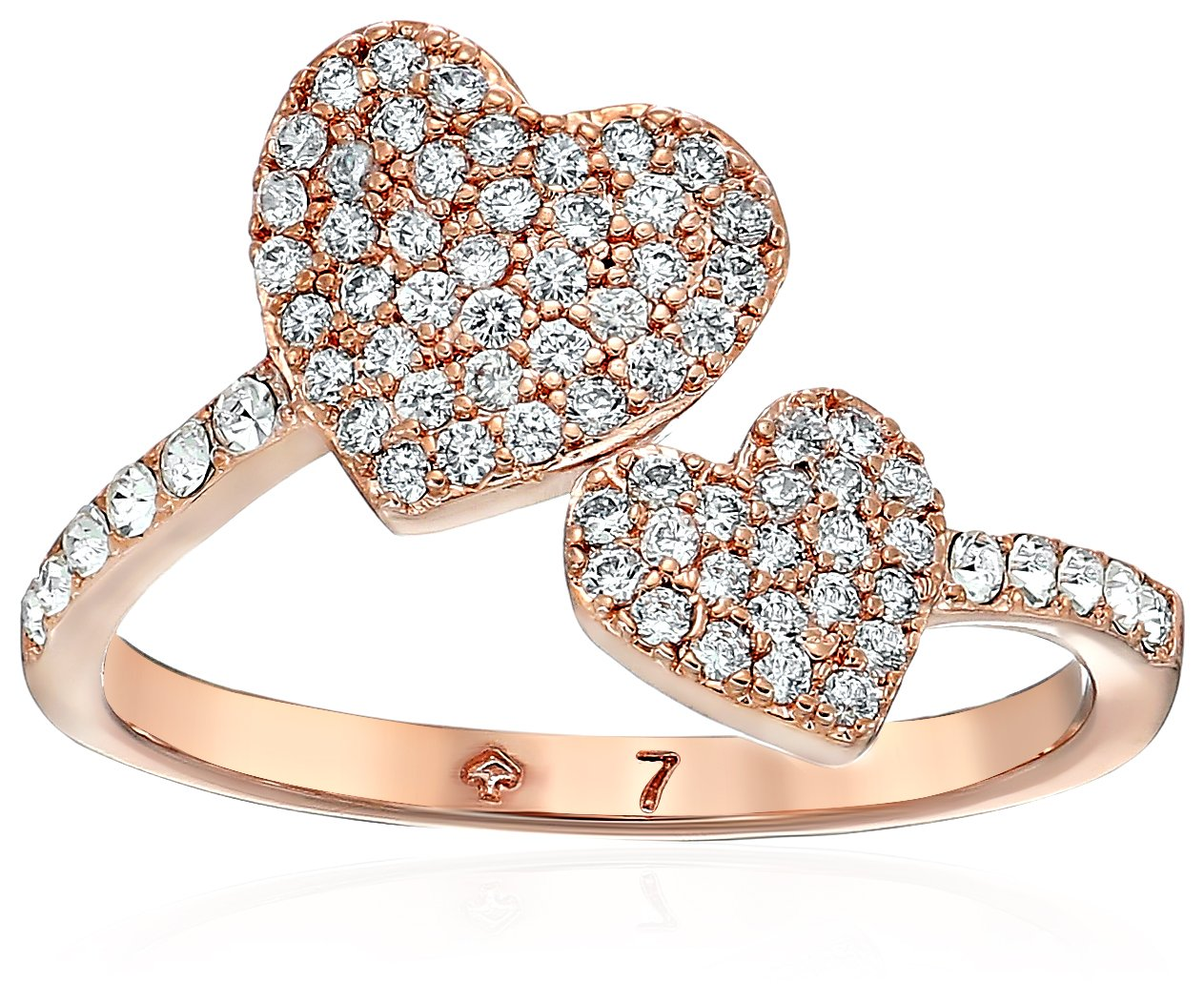 Kate Spade New York Pave Heart Ring, Size 7
