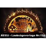 """REGU Laubsägevorlage """" Reise durchs Erzgebirge """" Nr. 125"""
