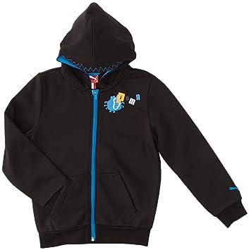 75c5bd436b Puma Foundation School Veste à capuche garçon Noir FR : 3 ans (Taille  Fabricant :