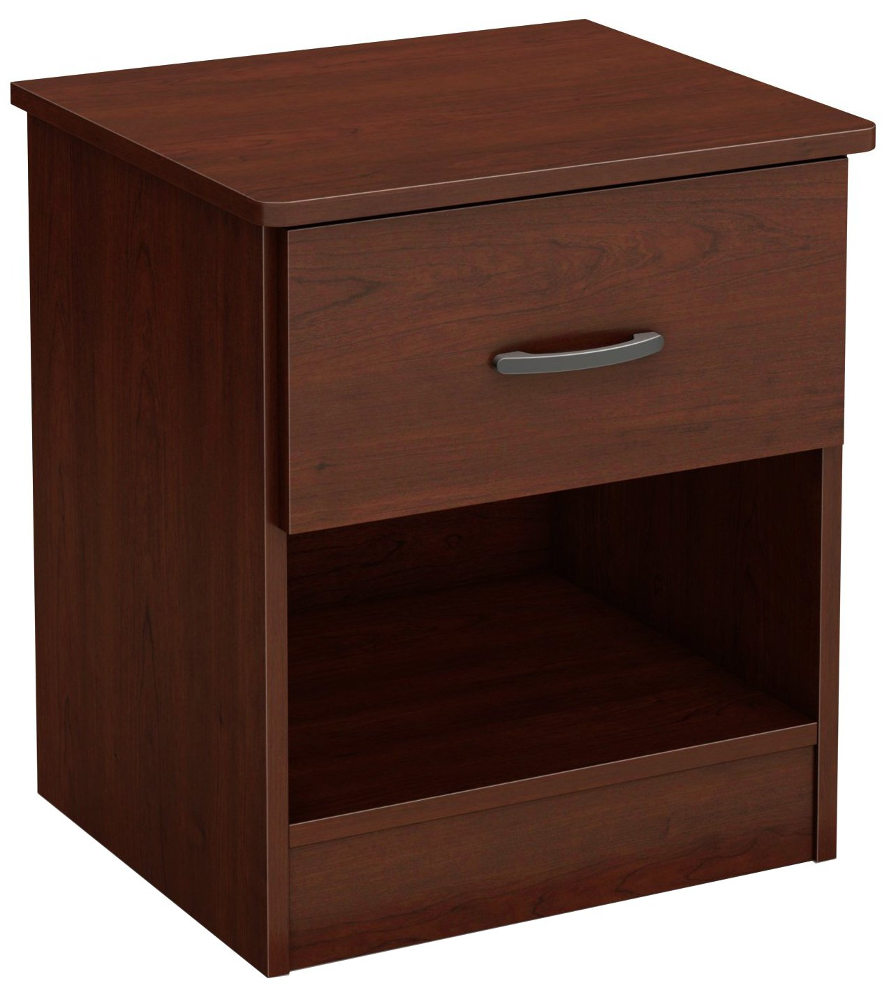 South Shore Furniture 10083 Libra 1-Drawer Nightstand, Royal Cherry