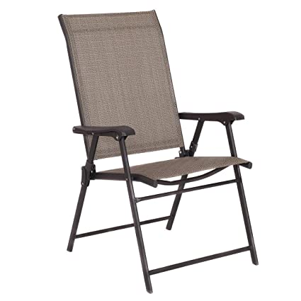Awe Inspiring Amazon Com Heize Best Price Brown Set Of 2 Patio Folding Short Links Chair Design For Home Short Linksinfo