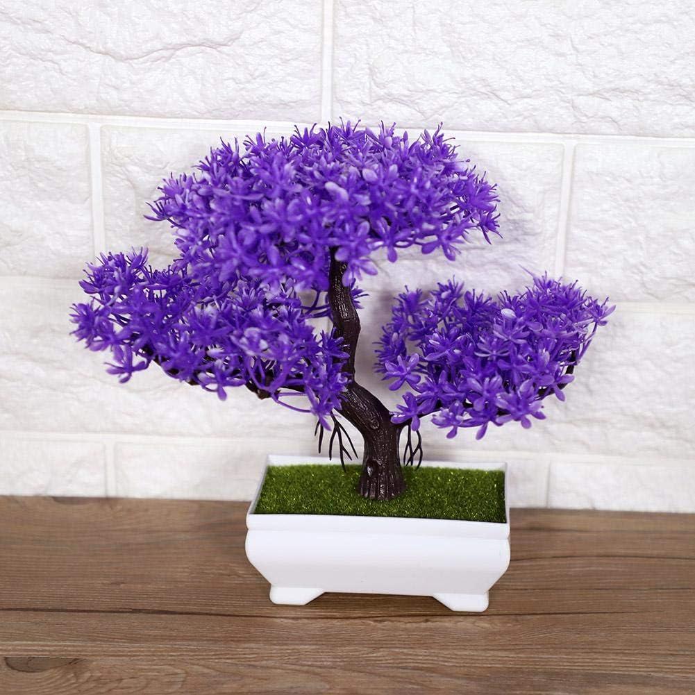 /Árbol Artificial de los Bonsais Planta de Decoraci/ón Falsa Flor Flor en Maceta Planta de Oficina en Casa Decoraci/ón Faux Planta en Maceta Pink