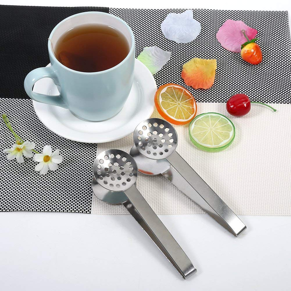 2/St/ück presse-sachets Tee aus Edelstahl Zange f/ür Beutel Tee vielseitig Sieb zu Teebeutel