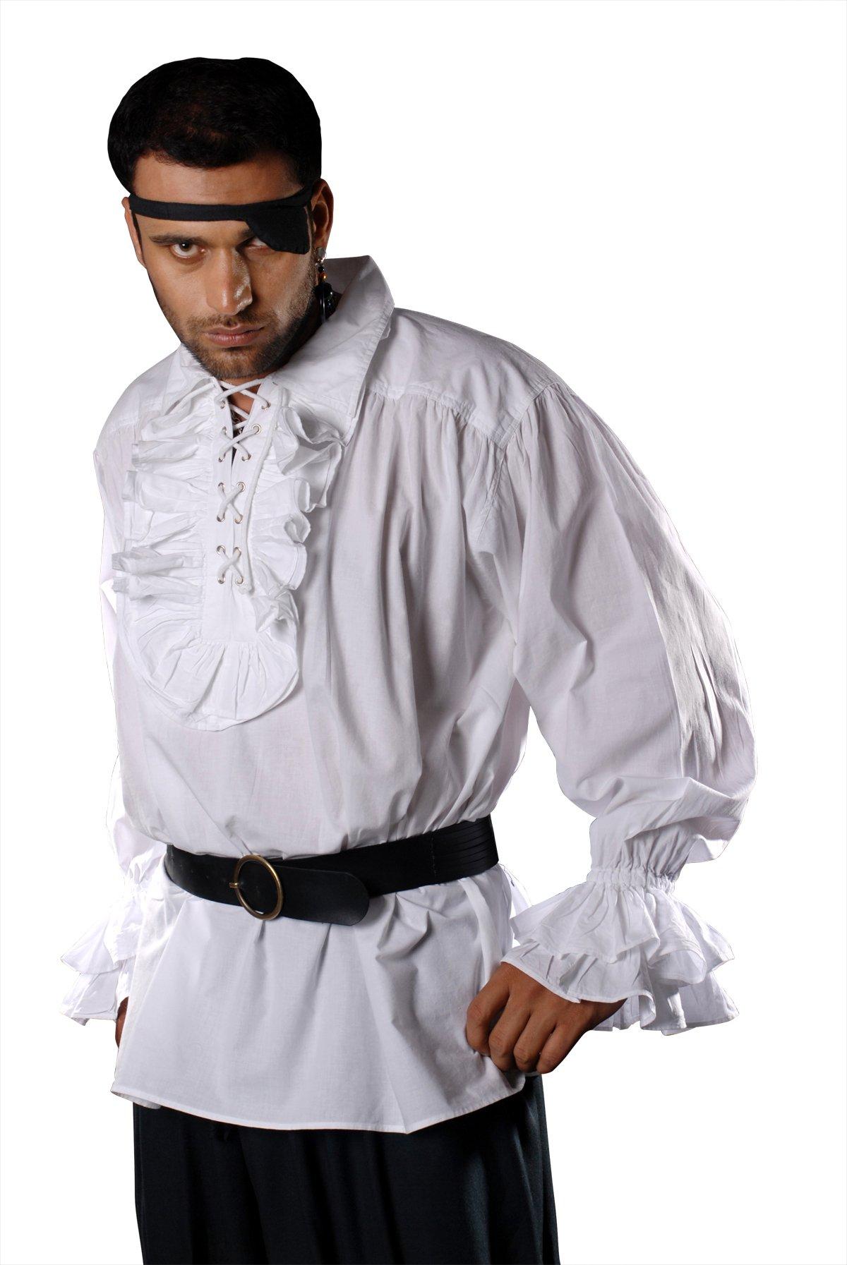 Armor Venue Captain Charles Vane Pirate Shirt (in cotton) - Pirate Costume - White S/M