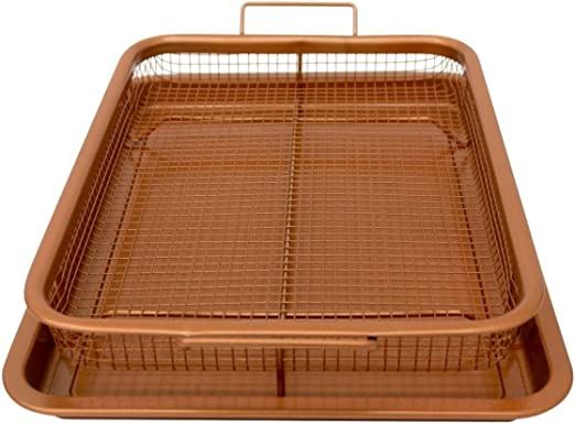 AIR FRY IN YOUR OVEN Gotham Steel Copper Crisper Tray NEW! As Seen on TV