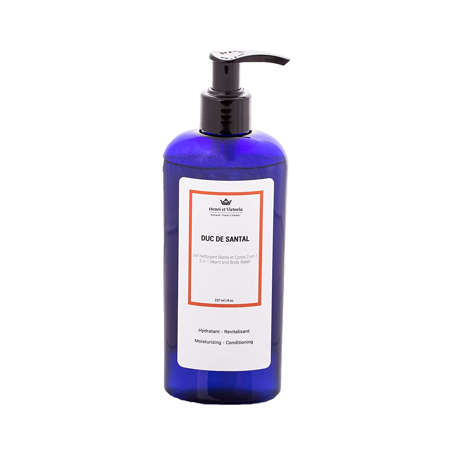 Duc de Santal Beard Wash Body Wash For Men | Hand Made in CANADA by Henri et Victoria | Moisturizing and soothing | 8oz Henri et Victoria inc