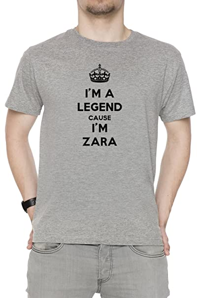 Im A Legend Cause Im Zara Hombre Camiseta Cuello Redondo Gris Manga Corta Todos Los Tamaños Mens Grey All Sizes: Amazon.es: Ropa y accesorios