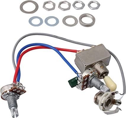 Amazon.com: BQLZR Guitar Wiring Harness 3way Toggle Switch 1v1t 500k For  Electric Guitar 2 Humbucker: Musical Instruments | Guitar Wiring Harness 3 Way Switch |  | Amazon.com