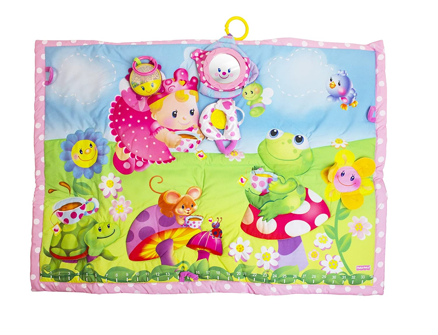 Fisher-Price Tummy Time Tea Party Quilt NA