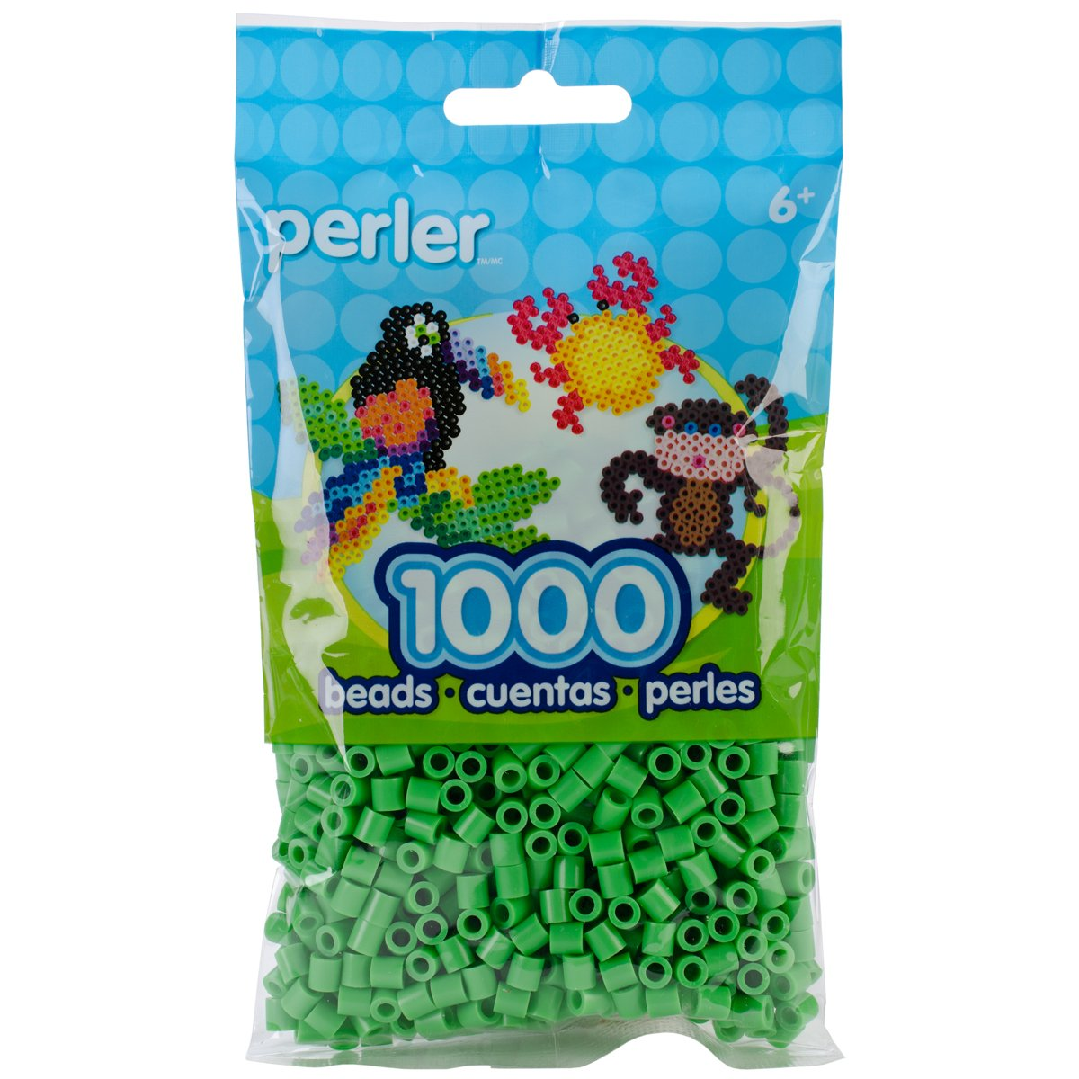 Canutillos Beads 1000 Unidades Color verde brillante