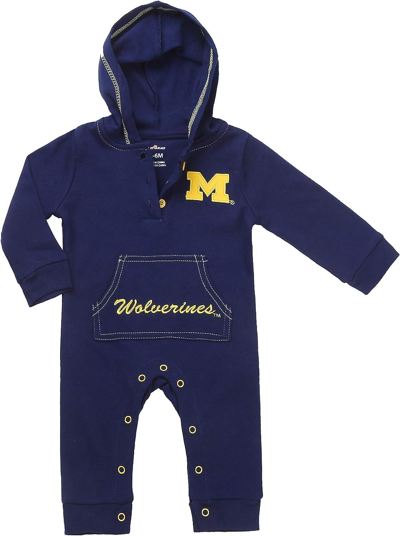 2 Pcs Fast Asleep Pjs NCAA Michigan Wolverines Bodysuits