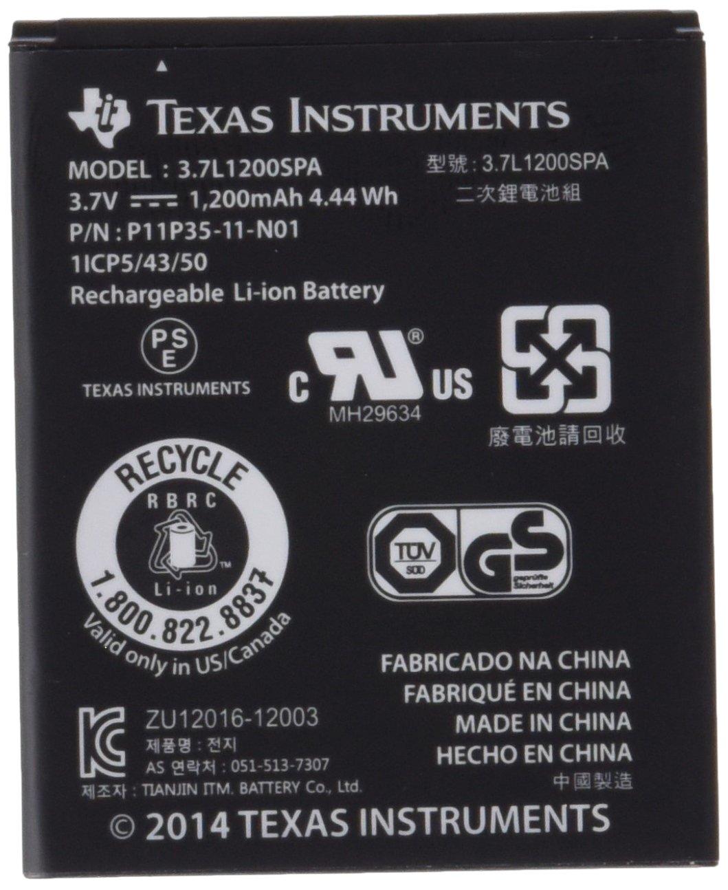 Texas Instruments N2BT/KT/B - Batteria di ricambio senza cavo per TI-Nspire CX e TI 84 Plus CE N2BT/BKT/B