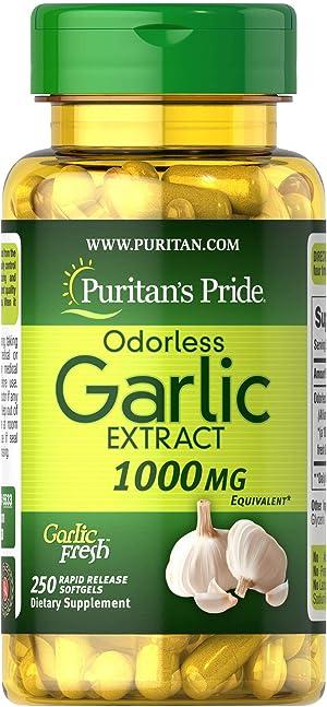 Puritan's Pride Odorless Garlic 1000 Mg Rapid Release Softgels, 250Count