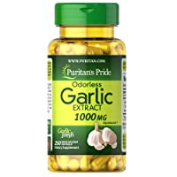 Puritan's Pride Odorless Garlic 1000 Mg Rapid Release Softgels, 250Count