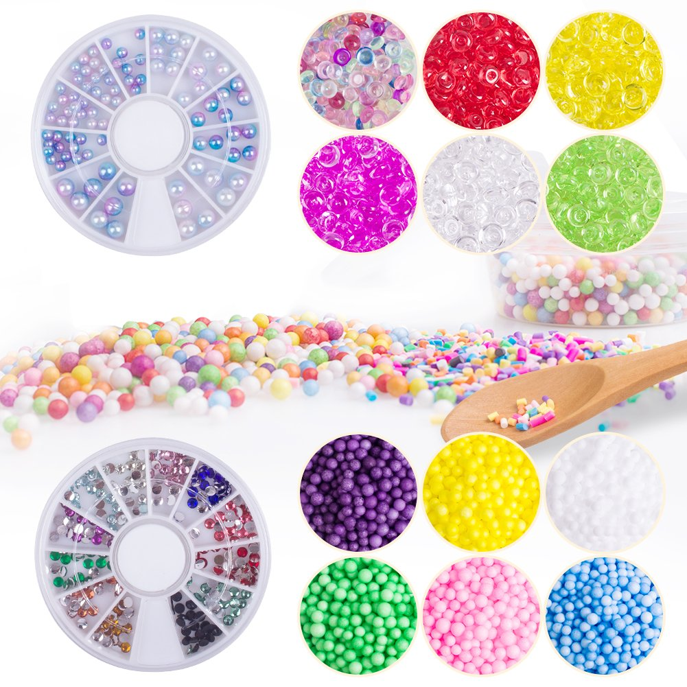 Home & Garden Careful Fishbowl Beads Diy Slime Decoration 7mm Diameter For Craft Tools Colorful Apparel Sewing & Fabric