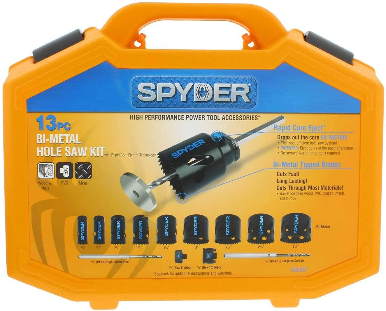 Spyder 600887 13-Piece Hole Saw Kit