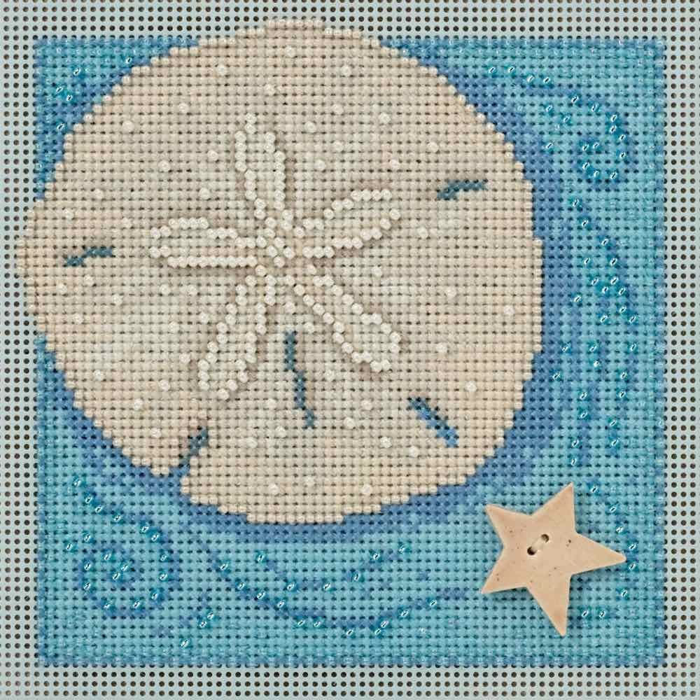 Sand Dollar Beaded Counted Cross Stitch Kit Mill Hill 2016 Buttons & Beads Spring MH141612