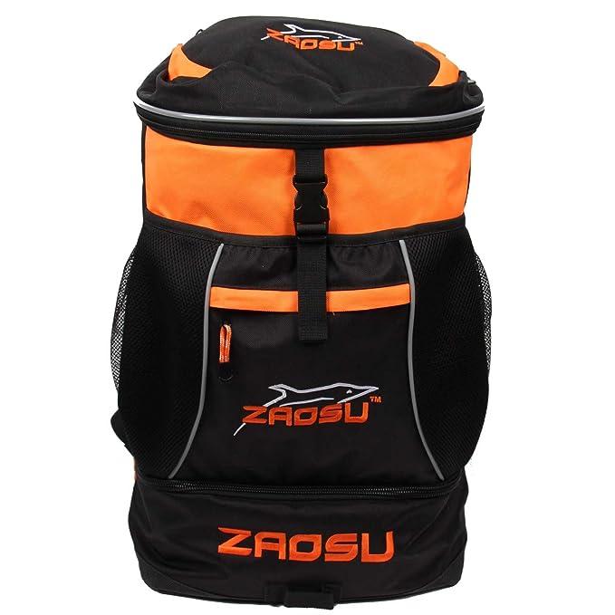 ZAOSU Mochila de natación y triatlón Bolsa de transición, Color:Naranja: Amazon.es: Ropa y accesorios