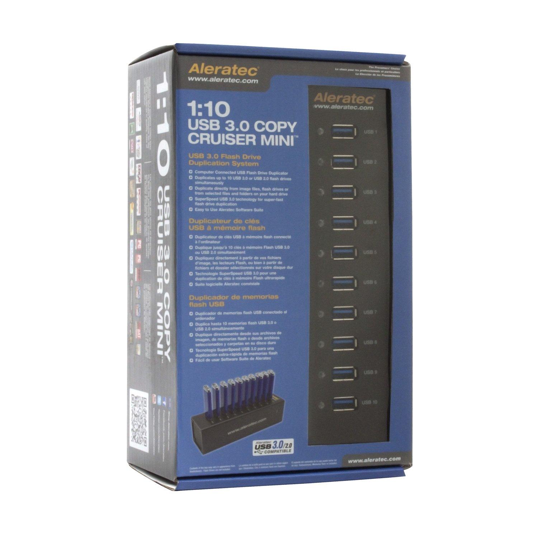 Aleratec 1:10 USB 3.0 Flash Drive Duplicator Mini for Windows & Mac, Black (330123)