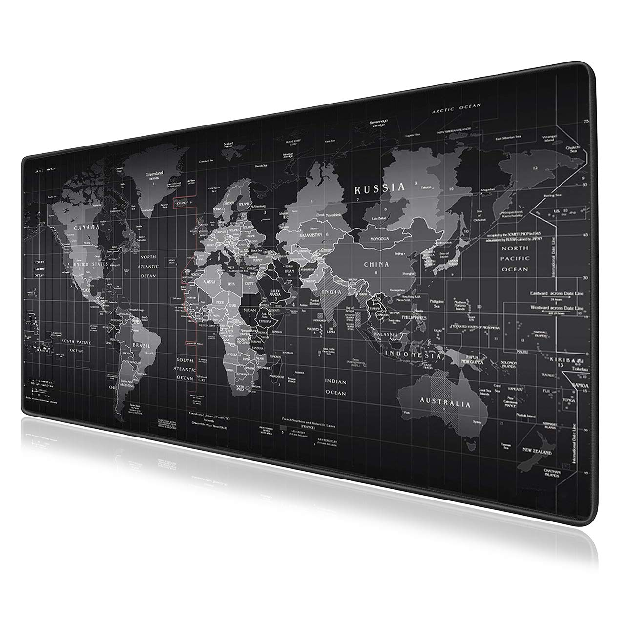 """Vipamz® Extended XXXL Gaming Mouse Pad - 35.4""""x15.7""""x0.12"""" Dimension - Portable with Extended XXL Size - Non-Slip Rubber Base - Special Treated Textured Weave with Precision Control (worldmap) product image"""
