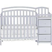 Dream On Me Casco 3-in-1 Mini Crib & Changing Table (Pebble Grey)