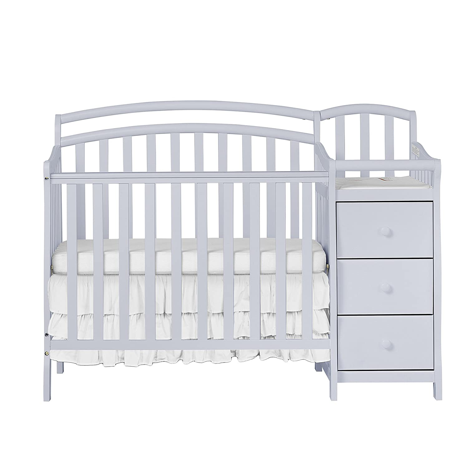 Amazon.com : Dream On Me Casco 4-in-1 Mini Crib and Changing Table ...