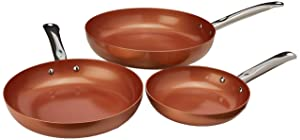 """Copper Chef Round Pan 3 Pack 8/10/12"""""""