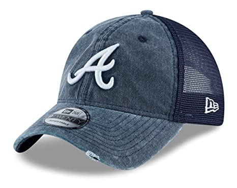 2464c94c08d Image Unavailable. Image not available for. Color  New Era Atlanta Braves  Tonal Washed 2 9TWENTY Adjustable Hat Cap