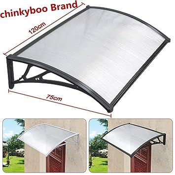 chinkyboo Easy Fit Door Canopy 120 x 75cm Outdoor Garden Door Canopy Door Window Awning Patio  sc 1 st  Amazon UK & chinkyboo Easy Fit Door Canopy 120 x 75cm Outdoor Garden Door ... pezcame.com