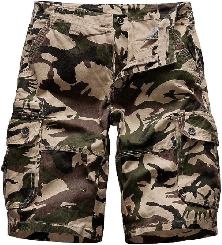 Nobrand 2020 Summer Tooling Shorts Camuflaje de los Hombres Algodón de Moda Pantalones Multibolsillos para Hombres Pantalones Sueltos