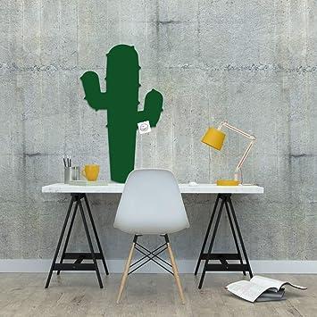 Kinder Pinnwand Pinnwand Kork Kaktus Pinnwand B/üro Office XL Format 90x60x2cm abl/ösbare Aufkleber Zibros 3D Effekt dekorativer Naturkork Wandgestaltung