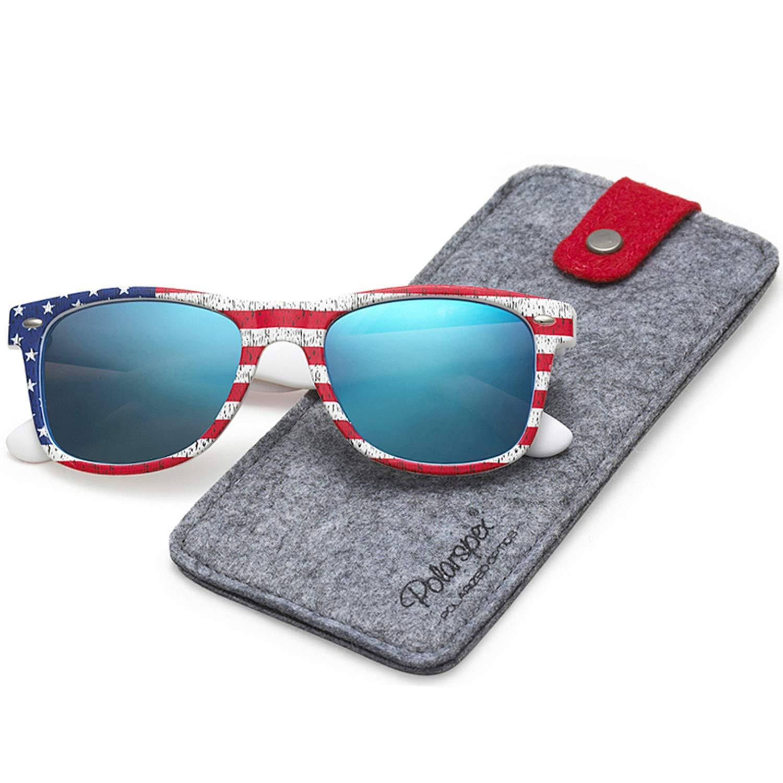 bbe21a2133f6 Amazon.com  Polarspex Polarized 80 s Retro Classic Trendy Stylish Sunglasses  for Men Women  Clothing