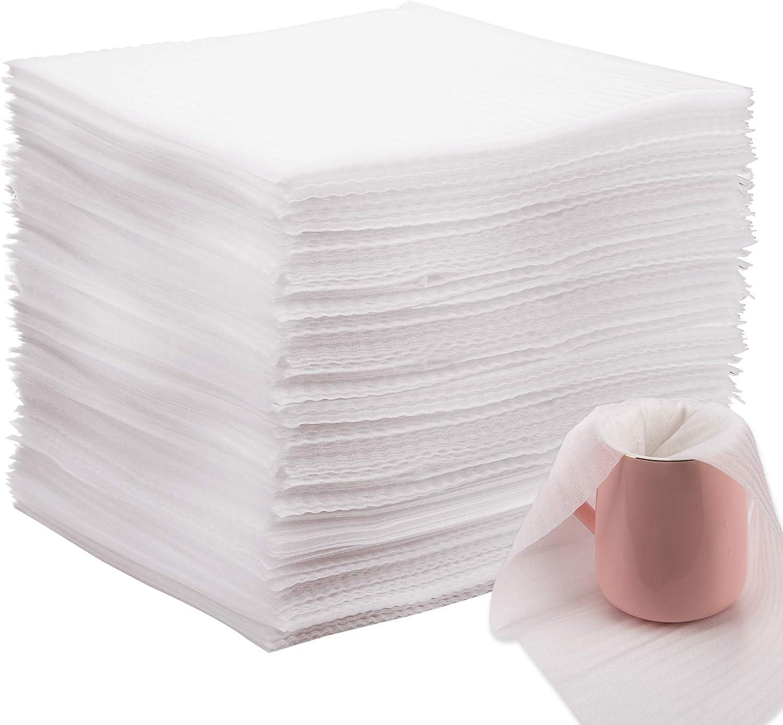 AIEX 100 Piezas Espuma de Embalaje Espuma Hojas Foam Sheet Envoltura de Espuma para Platos, platos, vasos, tazas(12X12X0.02 Pulgada)