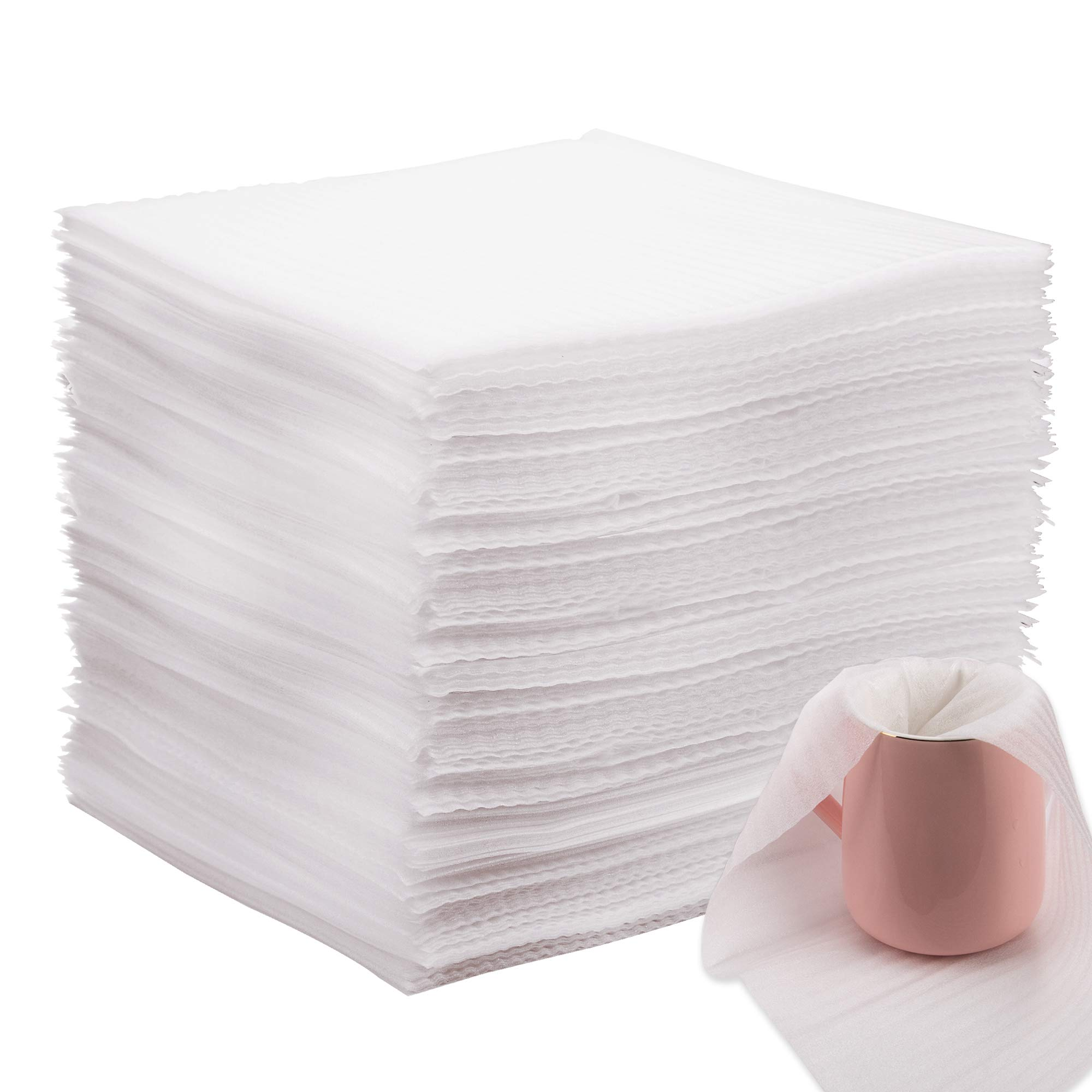 AIEX Cushion Foam Wrap Sheets Moving Supplies Packing Foam Packing Material for Dishes, Plates, Glasses, Vases, Cups, All Purpose Protection, Storage(100 Count,12 x 12 inches)