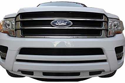Usa Made Fits   Ford Expedition Pc Gloss Black Insert Billet Grille Combo