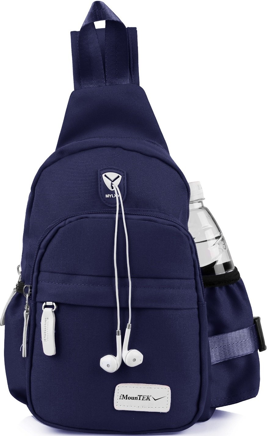 GPCT Nylon Crossbody Shoulder Chest Sling Bag Daily Travel Backpack (Blue) by GPCT (Image #4)