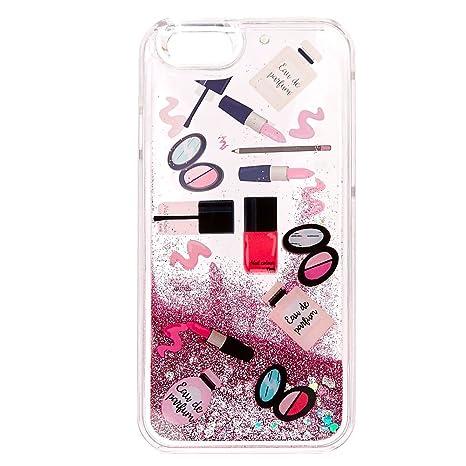 free shipping 6d407 6f02f Amazon.com: Icing Women's Beauty Glitter Liquid Filled Phone Case ...