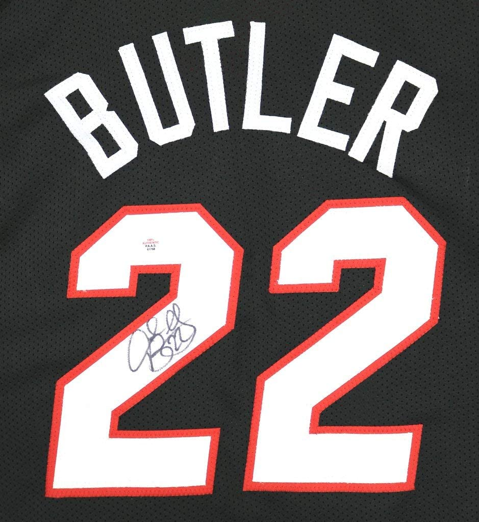 Jimmy Butler Miami Heat Signed Autographed Black #22 Custom Jersey ...