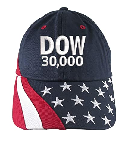 dcd2a931 Image Unavailable. Image not available for. Color: NYSE Hat Dow 30000 Stock  Broker Custom Embroidery Adjustable ...