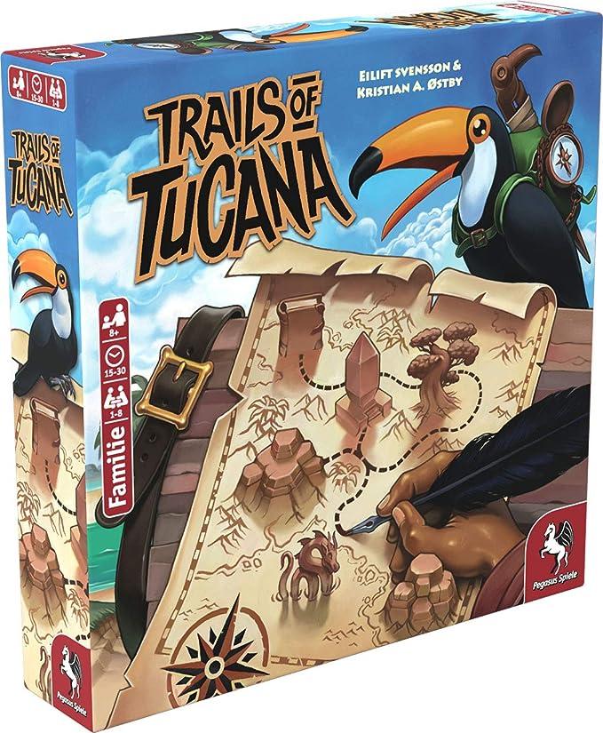 Pegasus Spiele 53150G Trails of Tucana - Juego de mesa (versión alemana): Amazon.es: Juguetes y juegos