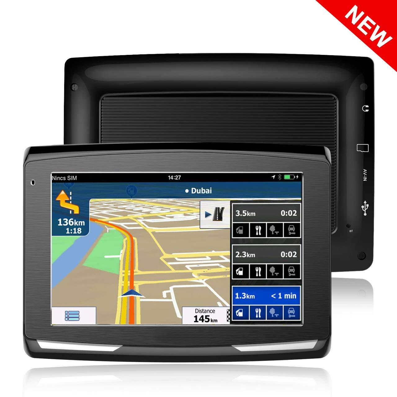5' GPS Auto Voiture Moto 8Go, X-EUCO Appareil de Navigation É cran Tactile, Systè me de Navigation avec Multi-Languages, (Gratuits Cartographie d'europe) X-EUCO Appareil de Navigation Écran Tactile Système de Navigation avec Multi-Languages