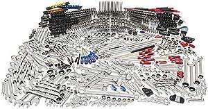 Husky Mechanics Tool Set Hard-Stamped Size Markings Chrome Finish 1025-Piece