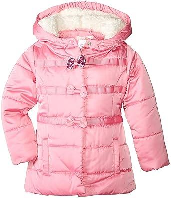 9b6ccd13edb6 Amazon.com  Billieblush Baby Girls  Puffer Coat with Bows  Clothing