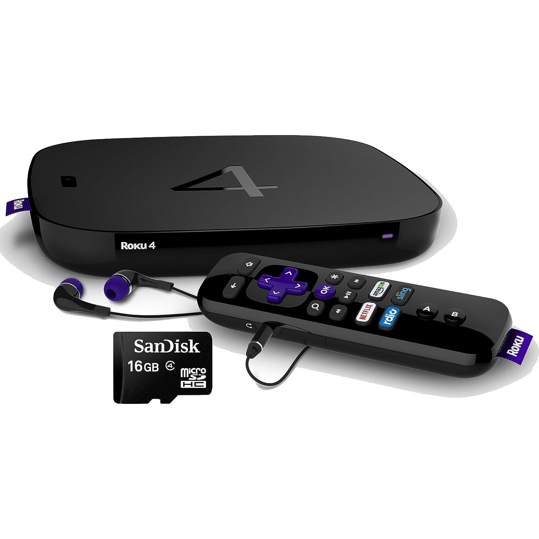 Amazon com : Roku 4 4400R 4K UHD Streaming Media Player with
