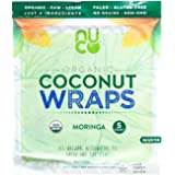 NUCO Certified ORGANIC Paleo Vegan Gluten & Grain Free Moringa Coconut Wraps, 5Count (One Pack of Five Wraps)