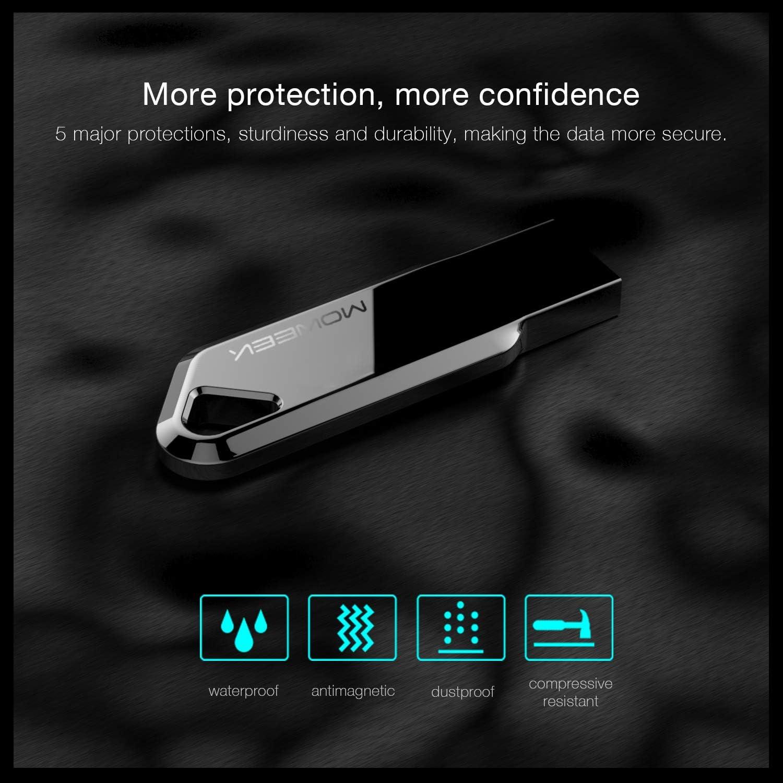Moweek USB 3.0 Flash Drive MF91 High Performance Metal USB Memory Stick 16G, MF91