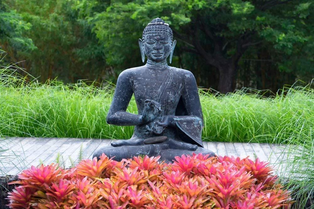Amazon Com Buddha Picture Garden Meditation Statue Print Buddhist Wall Art Yoga Decor Handmade